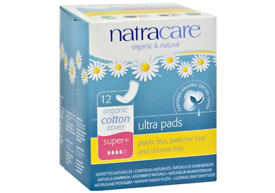 Natural Ultra Pads Organic Cotton Cover, Super Plus - 12 Pack, Natracare
