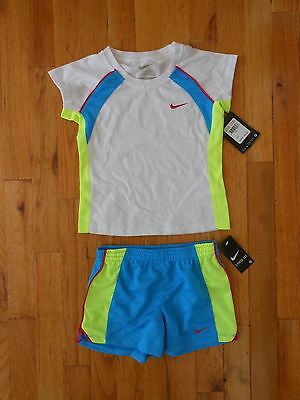 NWT Nike Little Girls 2pc shirt and short outfit set, Size 4