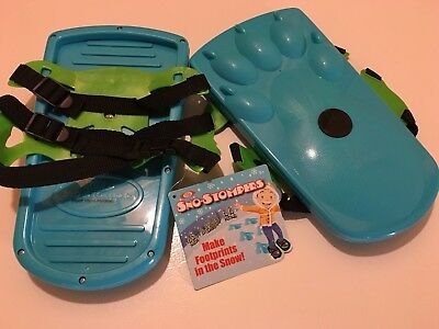 NEW Ideal Sno-Stompers Kids ~ BEAR PRINT ~ Snow Shoes Stompers Sand Tracks ~ NWT
