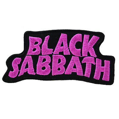 Black Sabbath Logo Iron On Patch Sew Embroidered Retro Tattoo Metal Rock Ozzy