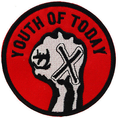 Youth Of Today Iron On Patch Embroidered Straight Edge Punk Sew Hardcore XXX
