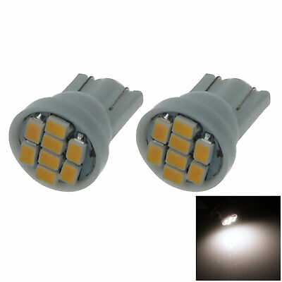 2x Warm white Car T10 W5W Tail Bulb Clearance Lamp 8 1206 SMD LED A037