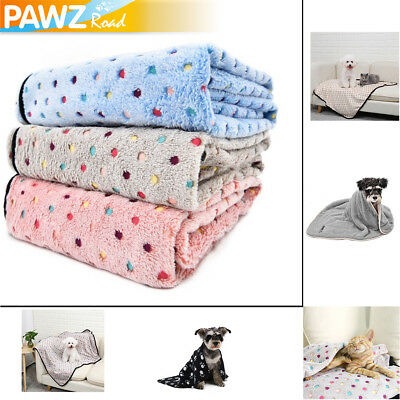 Pet Dog Cat Blanket Fleece Mat Cover Kitten Large Puppy Soft Bed Pad S & M & L