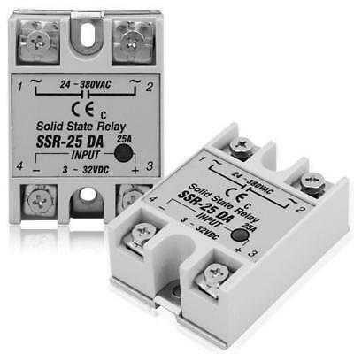 Solid state Relays SSR 3-32VDC 6-35mA 24-380VAC 25A DC 3-32V White DC TO AC