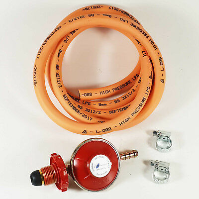 BBQ / Cooker Propane Regulator Gas Hose Kit Hand Wheel Stove Set / 2M Hose Kit