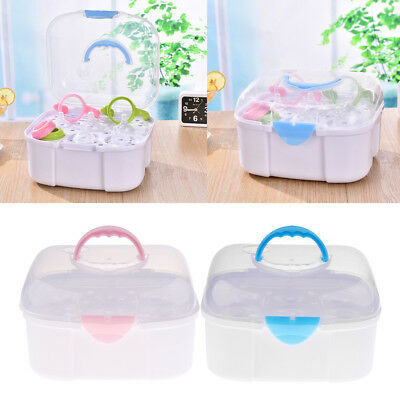 Kids Multifunctional Baby Milk Bottle Storage Box Container Clamshell Organizer