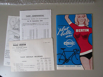 CYCLES BERTIN MILREMO CATALOGUE 1970's PUBLICITAIRE VELO ANCIEN REBOUR BICYCLE