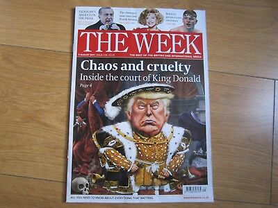 The Week Magazine August 2017 Donald Trump New.
