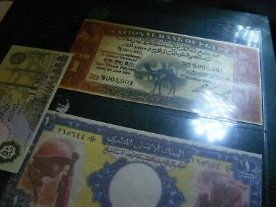 Egypt..2 singled-side copies Rare Notes...not real money...Plus one real note.