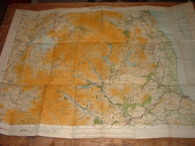 """WICKLOW DISTRICT ORDNANCE SURVEY MAP IRELAND 1"""" to one mile"""