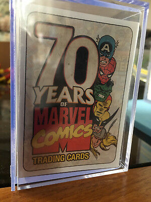 70 years of marvel comics trading cards cube