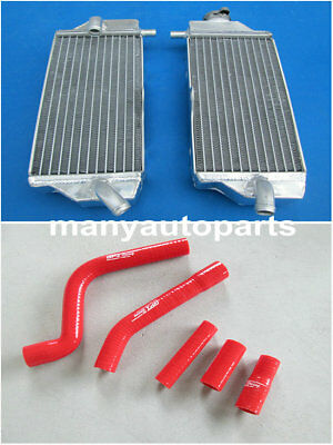 FOR Yamaha YZF250 YZ250F YZ 250 F 10 11 2010 2011 2012 2013 radiator +RED hose