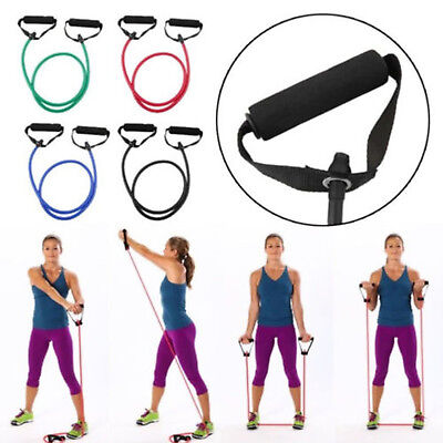 Resistance Band Set Yoga Pilates Abs Exercise Fitness Tube Workout Bands US