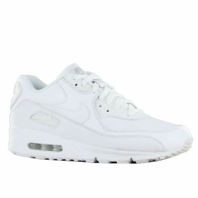 Nike Air Max 90 Leather White White Mens Trainers