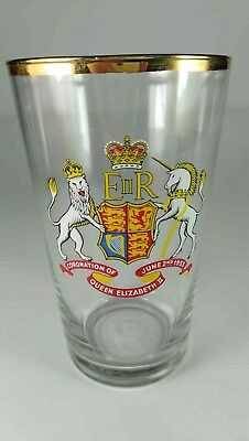 Queen Elizabeth Coronation 1953 Glass