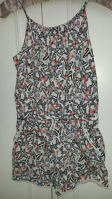 GIRLS M&S PLAYSUIT age11-12