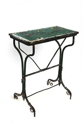 Original Antique French Steel Table Garden Potting Table with Original Paint
