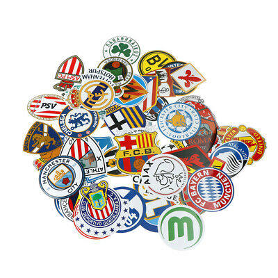 50pcs Creative Football Club Stickers For Skateboard Mobile Hand LuggageLaptopHG