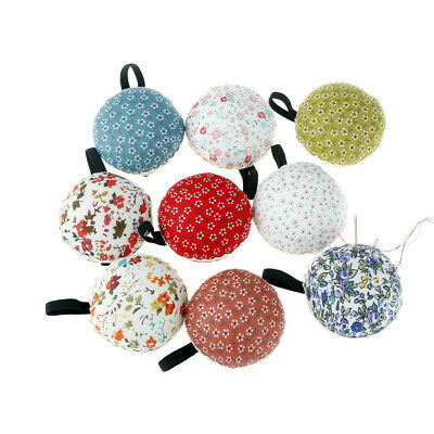 1Pc Ball Shaped DIY Craft Needle Pin Cushion Holder Sewing Kit Pincushions HGUK