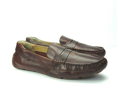 10ab7d571f3 SEBAGO Men s Kedge Brown Waxy Oiled Leather Penny Loafer Boat Shoe Size 13