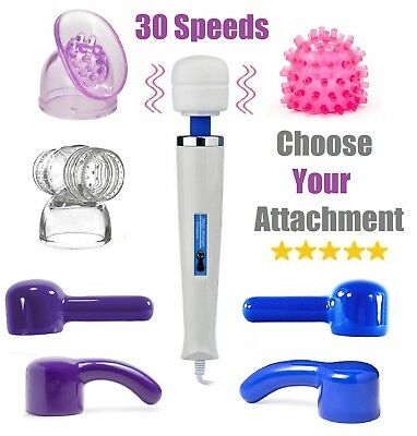 30 SPEED Magic Vibrating Wand Full Body Sports Massager Hitachi Motor UK Plug