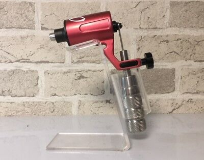 Authentic Omen RED Rotary Tattoo Machine 4mm Stroke (BOXED NEW)