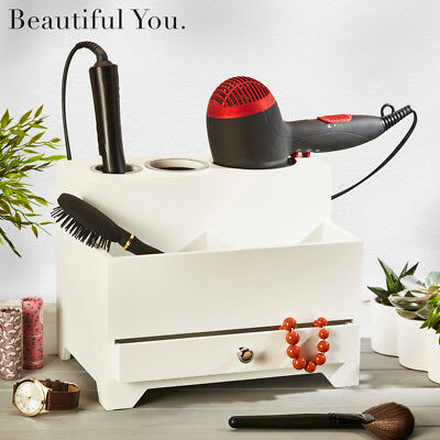 Beautiful You Wooden Hair Styling Station Dressing Table Organiser with Drawers