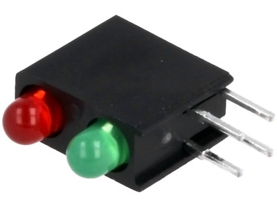 4x L-7104MD1SUR1CG Diode LED in housing No.of diodes2 3mm THT red/green