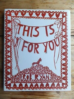 signed Rob Ryan paper cut story art book illustrated hardback