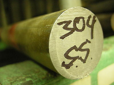 """STAINLESS STEEL SS 304 1 x 12"""" ROUND BAR STOCK FOR LATHE CNC MACHINE SHOP"""