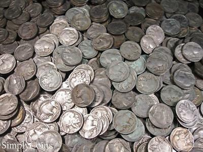 (1000) Full Date Indian Head Buffalo Nickel US Coin Lot Set Mixed Date 25 Rolls
