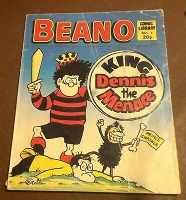 "Beano Comic Library Issue No. 1 ""King Dennis the Menace"" and Dennis Hand Puppet"