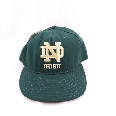 e6faa9cbbc1 Notre Dame Fighting Irish Green And Yellow Baseball Hat ND Logo On Front New