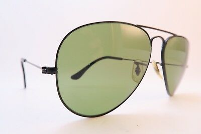 Vintage B&L Ray Ban sunglasses aviator black size 58-14 etched lens made in USA
