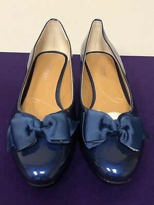 c78cf53b357 J.Reneé Women s Cameo Bow Wedge Pumps Shoes in Navy Size US 9.5 W