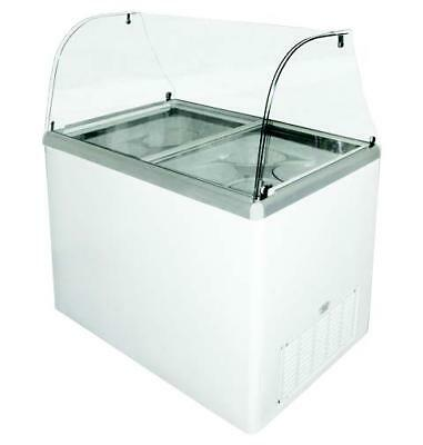 """Excellence EDC-8C 48"""" Curved Glass Ice Cream Dipping Cabinet (360EDC8C)"""