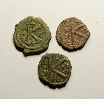 Authentic Ancient Medieval Byzantine Coins - LOT OF 3