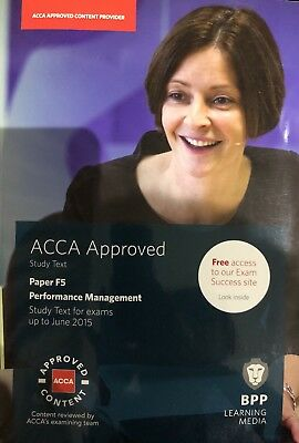 ACCA F5 Performance Management: Study Text by BPP Learning Media (Paperback,...