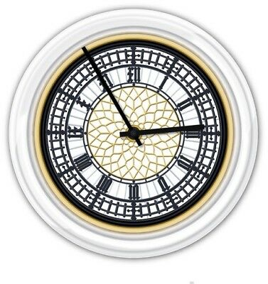 Big Ben SILENT Wall Clock - Palace of Westminster London Clock Tower GREAT GIFT