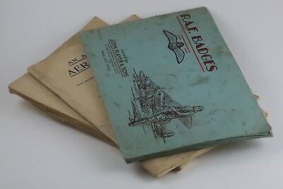 3x 1930's Cigarette card albums. R.A.F. Aeroplanes, Naval craft.