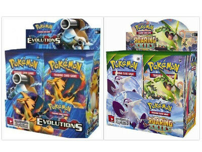 Pokemon TCG Evolutions + Roaring Skies Booster Boxes Sealed XY Series