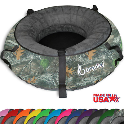 "Snow Tube w/ 57"" Real Camo Cover Huge Rubber Inner Sledding Heavy Duty Colossal"