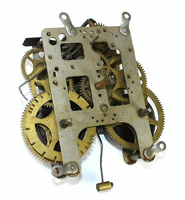 GILBERT 8 DAY CLOCK TIME & STRIKE MOVEMENT w/HANDS - FOR PARTS OR REPAIR - KC515