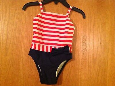 Infant Girls Circo Red, White, & Blue One-Piece Swimsuit Size: 9 Months