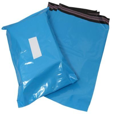 """2000 Blue Plastic Mailing Bags Size 17x21"""" Mail Postal Post Postage Self Seal"""