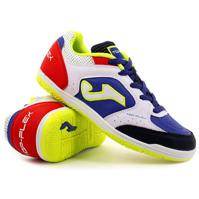 SCARPE CALCETTO JOMA - JUNIOR Top Flex 716 White   Royal Indoor ... c53ae0c4aeb