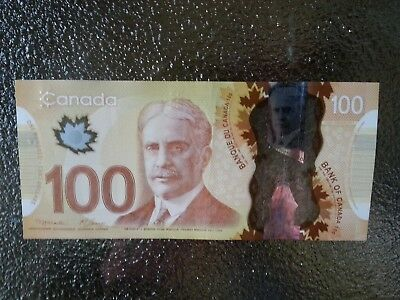 Canadian $100 Dollar Bank Note Polymer Bill EKG0293726 Circulate 2011 Canada