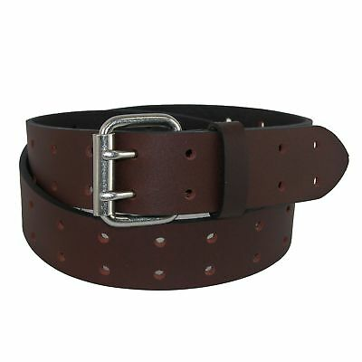Dickies Men's Big & Tall Leather Two Hole Perforated Bridle Belt