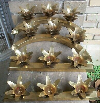 Solid Brass Pineapple Design Candle Stick Centerpiece 4 Pieces - Made in India