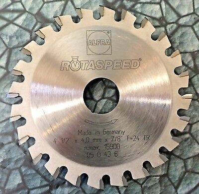 """new Alfra 4-1/2"""" RotaSpeed Dry Metal Cutting Saw Blade 24T Carbide Stainless"""